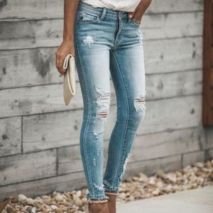 NWT KanCan Kan Can Distressed Skinny Jeans Pants